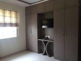 Residential 3bhk, Madhapur: modern Bedroom by DeTekton
