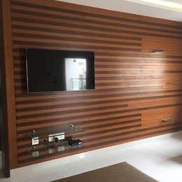Residential 3bhk, Madhapur: modern Living room by DeTekton