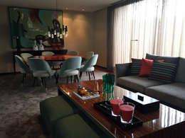 غرفة السفرة تنفيذ PAULA NOVAIS ARQUITECTOS E DESIGN