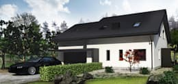 Casas de estilo moderno por MFA Studio Sp z o.o.
