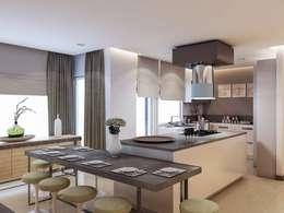 VERO CONCEPT MİMARLIK – Yunus Emre - Alsancak  Konut: modern tarz Mutfak