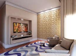 modern Media room by canatelli arquitetura e design