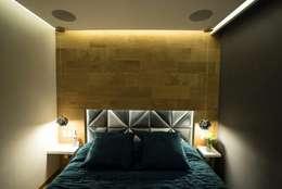 Спальни в . Автор – HO arquitectura de interiores
