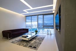 modern Media room by HO arquitectura de interiores
