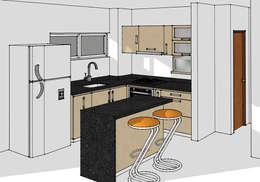 Cocinas de estilo moderno por Remodelar Proyectos Integrales
