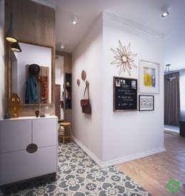 Pasillos, vestíbulos y escaleras de estilo  por Polygon arch&des