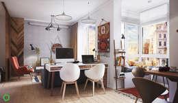 Projekty,  Salon zaprojektowane przez Polygon arch&des