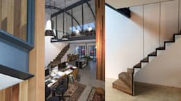 Loft in fabriekspand: industriële Studeerkamer/kantoor door Tijmen Bos Architecten