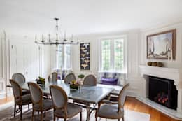 غرفة السفرة تنفيذ Mel McDaniel Design
