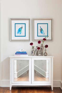 peacocks in blue :  Artwork by Mel McDaniel Design