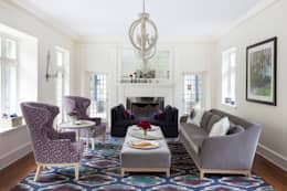 Haverford : classic Living room by Mel McDaniel Design
