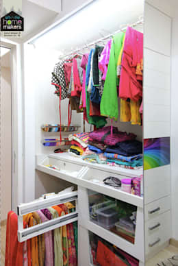 modern Dressing room by home makers interior designers & decorators pvt. ltd.