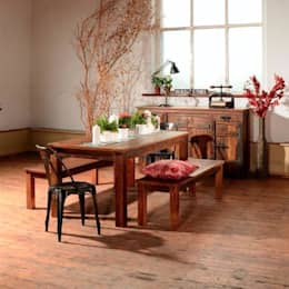 rustic Dining room تنفيذ Modish Living