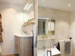 meuble vasque: Salle de bains de style  par Agence ADI-HOME