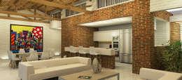 Casa La Morada DV: Cocinas de estilo moderno por COLECTIVO CREATIVO