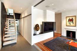 Salt + Pepper House: modern Media room by KUBE Architecture