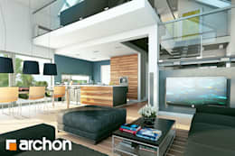 modern Living room by ARCHON+ PROJEKTY DOMÓW