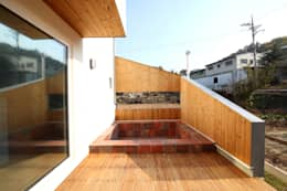 Piletas de estilo moderno por 주택설계전문 디자인그룹 홈스타일토토