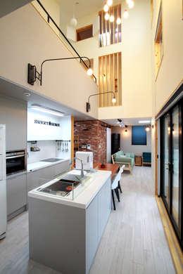 Nhà bếp by 주택설계전문 디자인그룹 홈스타일토토