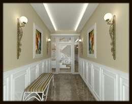 Projekty,  Korytarz, przedpokój zaprojektowane przez ESA PARK İÇ MİMARLIK