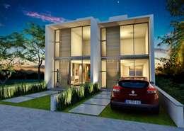 Projekty, nowoczesne Domy zaprojektowane przez hola