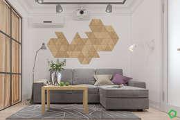 Salon de style de style Minimaliste par Polygon arch&des