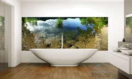 Tauchen Sie in den See...: moderne Badezimmer von Mitko Design