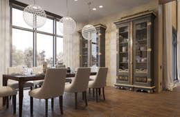 ПОДМОСКОВНЫЙ ОСОБНЯК: Столовые комнаты в . Автор – D-SAV     ДИЗАЙН ИНТЕРЬЕРА И АРХИТЕКТУРА