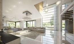 modern Living room by MG Projekt Projekty Domów
