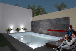 Casa FH - REFORMA PATIO : Piletas de estilo minimalista por D'ODORICO OFICINA DE ARQUITECTURA