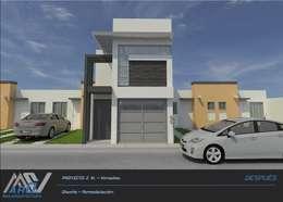 Casas de estilo moderno por MA5-Arquitectura