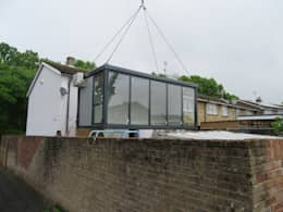 INSTANT EXTENSION: modern Conservatory by JC PORTABLE SITE ACCOMMODATION LTD