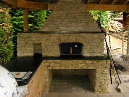 de estilo  de wood-fired oven