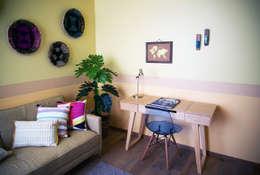 Choapan Decor by Erika Winters®Design: Estudios y oficinas de estilo ecléctico por Erika Winters® Design