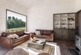 rustic Living room by ESTUDIO BASE ARQUITECTOS