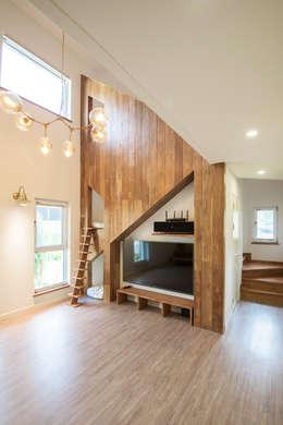 modern Living room by 건축사사무소 재귀당