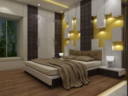 Newtown Project: modern Bedroom by Creazione Interiors