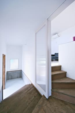 エントランスホール02: 加藤淳一級建築士事務所が手掛けた廊下 & 玄関です。