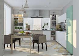 Cocinas de estilo ecléctico de Студия дизайна Дарьи Одарюк