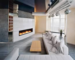 Каминная: Гостиная в . Автор – Архитектурное бюро 'Дом-А'