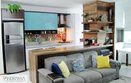 Cocinas de estilo ecléctico por PANORAMA Arquitetura & Interiores