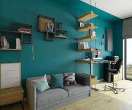 mieszkanie w Powsinie 140mkw: styl , w kategorii Domowe biuro i gabinet zaprojektowany przez INSIDEarch