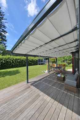 14 ideas to guarantee a stylish weatherproof garden for Toldos para patios