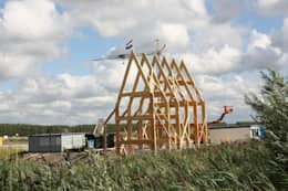 Woning met werkruimte, Homerus kwartier Almere Poort: moderne Huizen door Architectenbureau Jules Zwijsen
