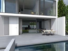 Terrazas de estilo  por PAWEL LIS ARCHITEKCI