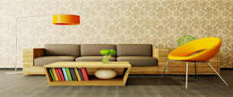 House Interiors: asian Living room by Innovate Interiors & Fabricators