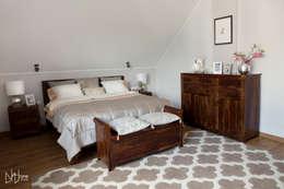 Sypialnia po metamorfozie: styl , w kategorii Sypialnia zaprojektowany przez Mhomestudio