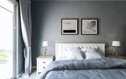 Angielska mieszanka: styl , w kategorii Sypialnia zaprojektowany przez AP DIZAJN - wnętrza & dizajn