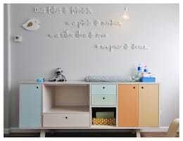scandinavian Nursery/kid's room by homify