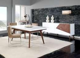 Mobiliário de sala de jantar Dining room furniture www.intense-mobiliario.com   ESSITAM : Sala de jantar  por Intense mobiliário e interiores;